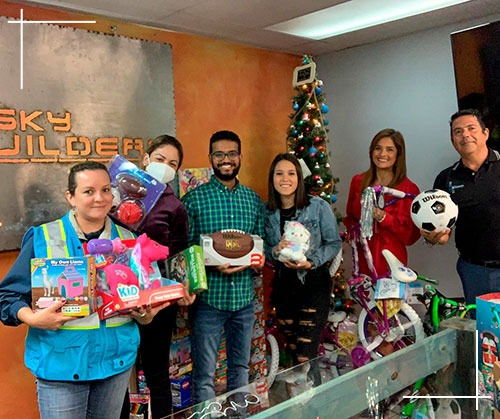 Giving toys